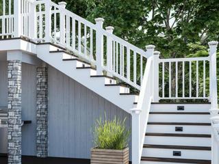 Deckorators 6ft Pies Classic Composite Stair Railing Kit White