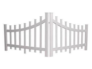 White Corner Accent Fence