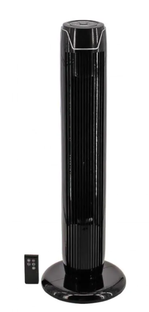 Utilitech 36in Tower Fan Plastic Construction with Black Finish