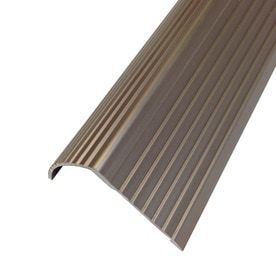 M D Building Products Cinch Stair Edging  Fluted  36in Satin Nickel Satin Nickel