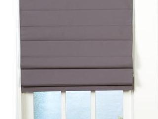 Gray Fabric Roman Shade 27 x 72