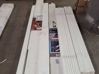 lOT OF COMPOSITE STAIR RAIlS PANElS ETC