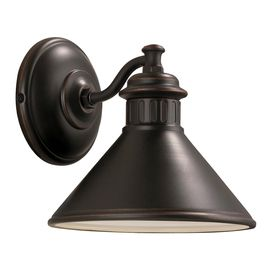 Portfolio Dovray 7 75 in H Oil Rubbed Bronze Dark Sky Outdoor Wall light