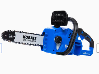 Kobalt 24v Max Brushlesss Cordless 12  Chainsaw 1447232 W  Battery   Charger