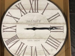 Baldauf Clock Co  22  Wood Plank Clock