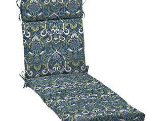Arden Selections Sapphire Aurora Damask 72 x 21 in  Outdoor Chaise Cushion