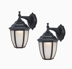 Project Source 2 Count lED Wall lanterns