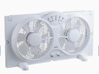 Utilitech White Twin Window Fan 3 Speed