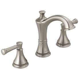 Delta Valdosta Spotshield Brushed Nickel 2 Handle Widespread Bathroom Sink Faucet
