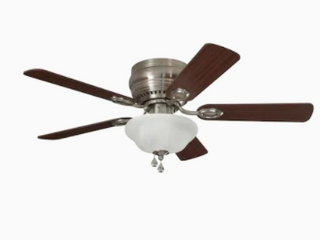 Harbor Breeze Mayfield 44 in Nickel led Indoor Flush Mount Ceiling Fan