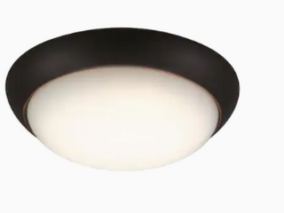 Project Source led Flush Mount Ceiling Fixture 2ct  Oil Rubbed Bronze Energy