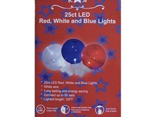 25 ct led red  white  and blue indoor outdoor lights 13