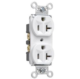 Pass   Seymour legrand 20 Amp White Duplex Electrical Outlet