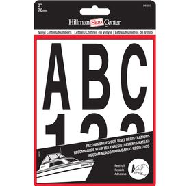 The Hillman Group 847015 3 Inch Die Cut letters Numbers Kit  Black