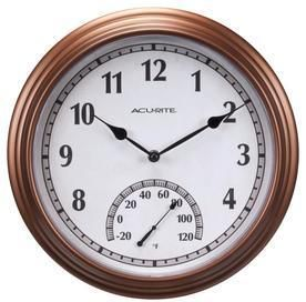 AcuRite Traditional Clock with Thermometer