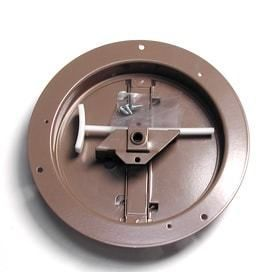 Accord ABCDBRD06 Ceiling Damper with Round Butterfly Design  6 Inch  Brown