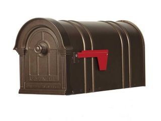 Postal PRO Manchester Bronze Steel and Aluminum Post Mount Mailbox