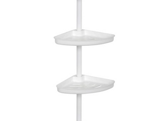 Style Selections Tension Pole Shower Caddy Model  2156WWMV White Finish