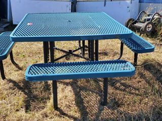 Blue Outdoor Table