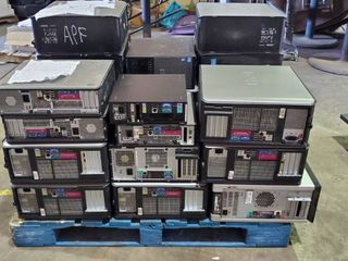 Pallet Of CPUs  Hard Drives Removed
