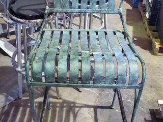 4  Metal Bar Height Chairs