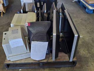 Pallet Of Monitors  2 TVs