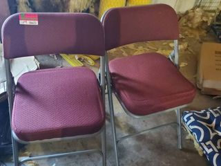 2  Cushioned Folding Chairs