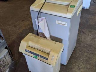 2  Fellows Paper Shredders