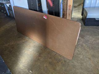 Brown Plastic Folding Table