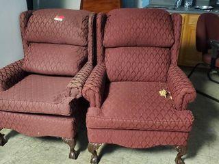 2  Burgundy Chairs