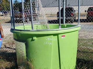 Green Dunk Container With Trailer