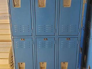 12  Blue Metal lockers