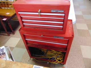 Craftsman Stacking tool Box with Key and Contents