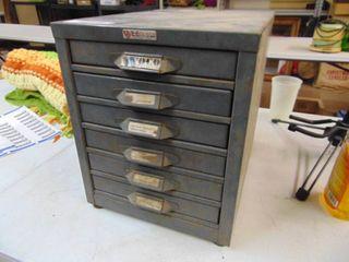 Vintage Metal Hardware Cabinet