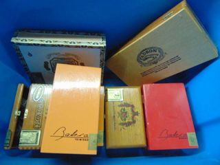 Assorted Cigar Boxes