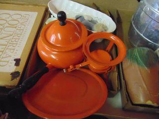 Orange Fondue Pot and more