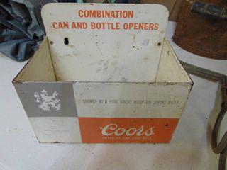 Coors Bottle Cap opener Holder