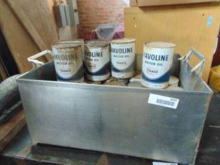 18 Havoline   Metal Cans