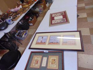 3 Pieces of Artwork   Decor