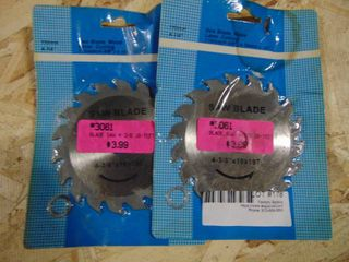 2 Saw Blades For Wood  New and Unused