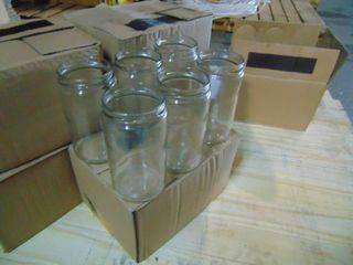 120 QTY OF NEW GlASS JARS