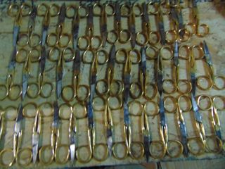 GlOBE MASTER BRAND GOlD PlATED SCISSORS  72 pairs