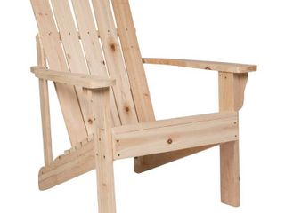 Vine yard wood Adirondack chair natural color