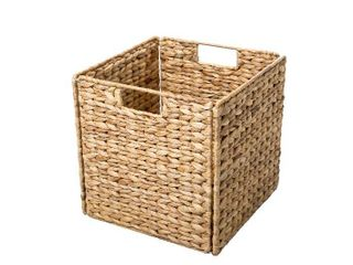 set of 4 Foldable Hyacinth Storage Basket