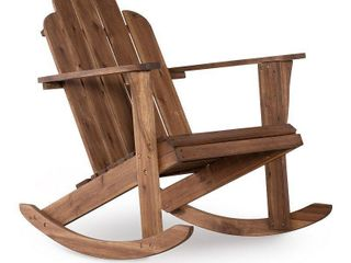 Adirondack Rocker Teak Finish   linon