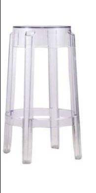 Plata import Transparent counter stool 26a seat height
