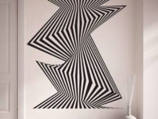 Style and apply optical stripes wall decor
