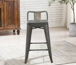 Industrial 24a rustic distressed kitchen counter stools  set of 4