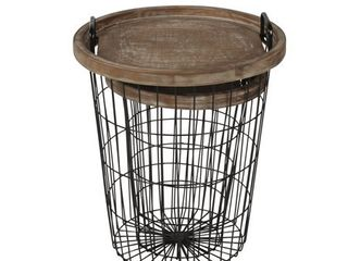 Carbon loft Brown Metal  Wood Tray Nesting Accent Tables Retail 196 49