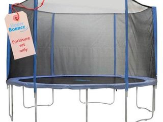 Upper Bounce 6 Pole Trampoline Enclosure Set to fit 14 FT  Trampoline Frames with set of 3 or 6 W Shaped legs  Trampoline Not Included